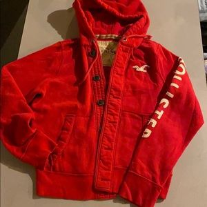 Men's xl  hollister hoodie with button closure